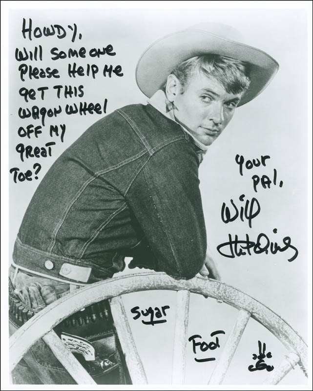 Image 1 for Will 'Sugarfoot' Hutchins - Autographed Signed Photograph - HFSID 290838