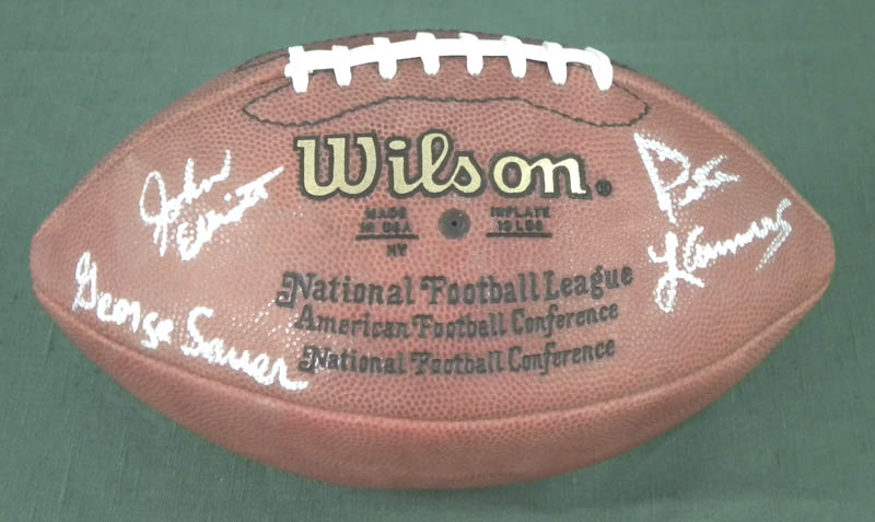 Image 1 for New York Jets - Football Signed co-signed by: Pete Lammons, George Sauer Jr., John 'Jumbo' Elliot - HFSID 290984