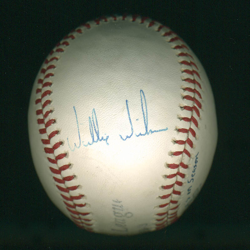 Image 3 for Juan 'Sammy' Samuel - Autographed Signed Baseball co-signed by: Willie Wilson - HFSID 291035