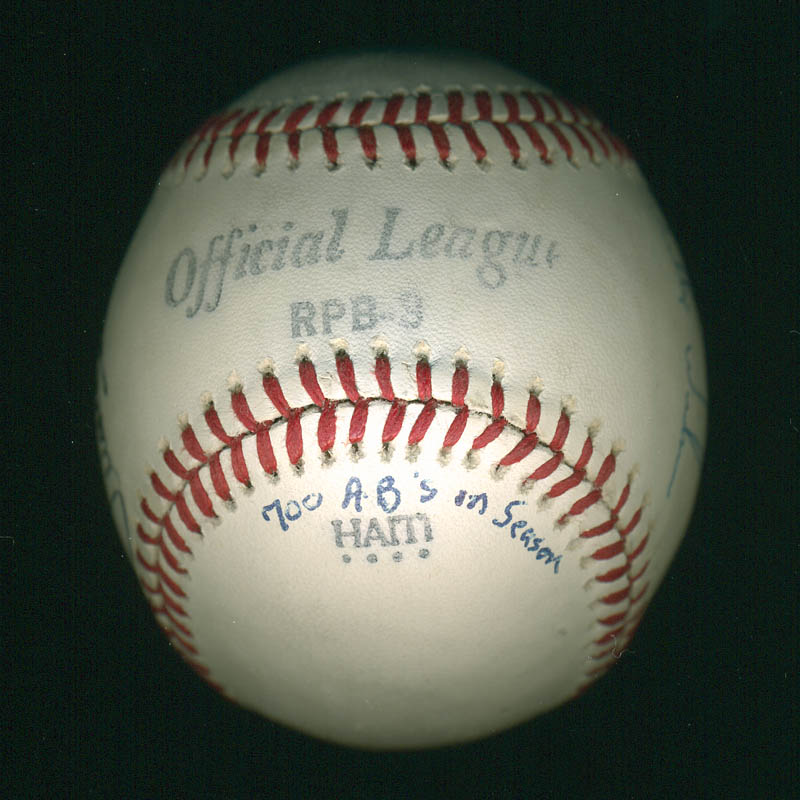 Image 4 for Juan 'Sammy' Samuel - Autographed Signed Baseball co-signed by: Willie Wilson - HFSID 291035