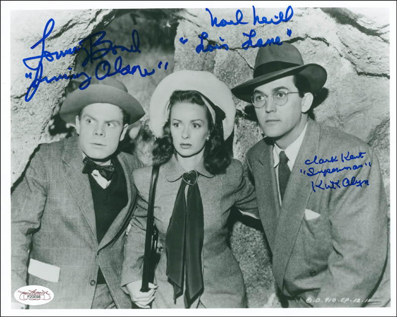 Image 1 for Superman Movie Cast - Autographed Signed Photograph co-signed by: Tommy 'Butch' Bond, Noel Neill, Kirk Alyn - HFSID 291097