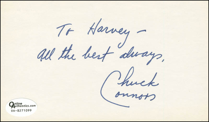 Image 1 for Chuck Connors - Autograph Note Signed - HFSID 291265