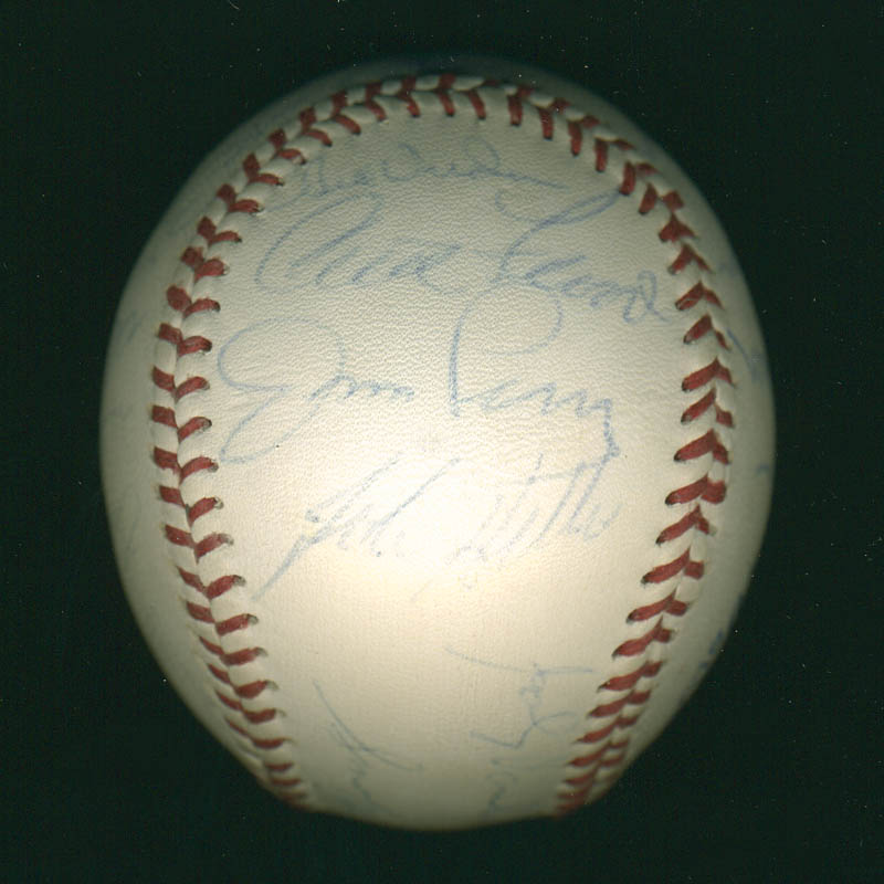 Image 1 for Curt Flood - Autographed Signed Baseball with co-signers - HFSID 291298