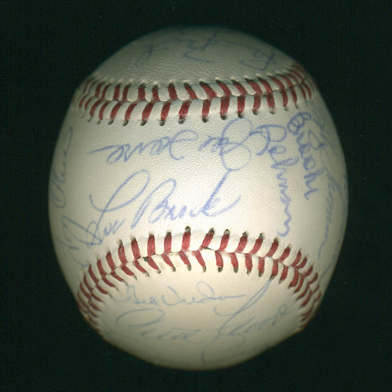 Image 3 for Curt Flood - Autographed Signed Baseball with co-signers - HFSID 291298