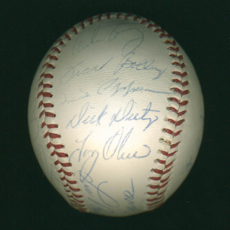 Image 5 for Curt Flood - Autographed Signed Baseball with co-signers - HFSID 291298