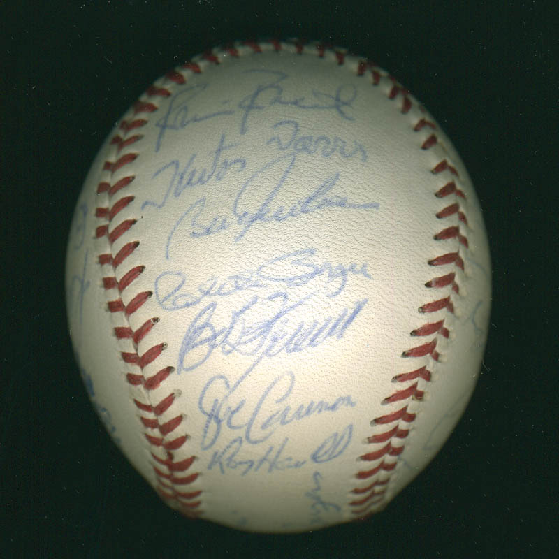 Image 6 for Curt Flood - Autographed Signed Baseball with co-signers - HFSID 291298