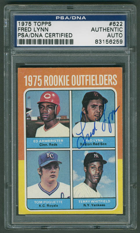 Fred Lynn - Trading/Sports Card Signed | HistoryForSale Item 291329