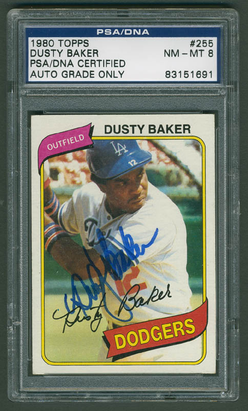 Image 1 for Dusty Baker - Trading/Sports Card Signed - HFSID 291334
