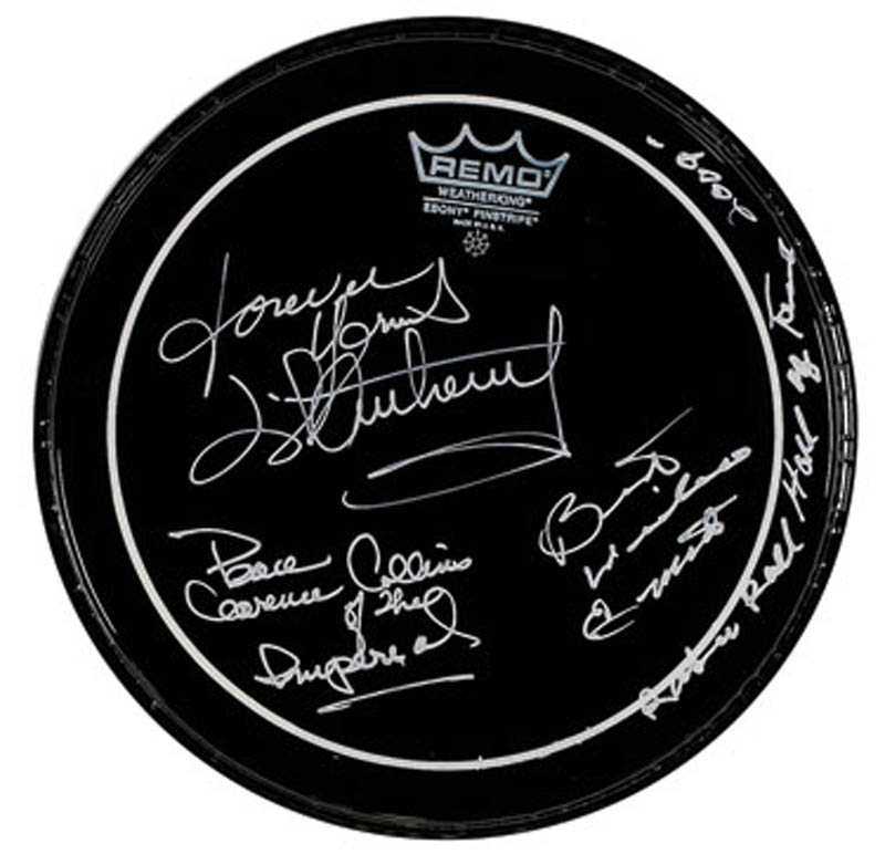 Image 1 for Little Anthony And The Imperials - Drumhead Signed with co-signers - HFSID 291380