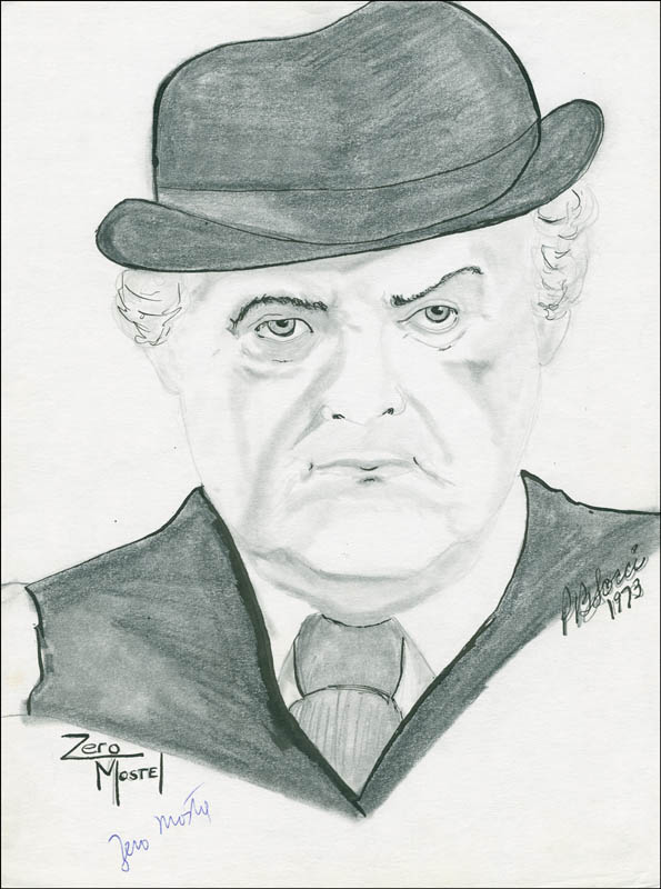 Image 1 for Zero Mostel - Original Art Signed - HFSID 291457