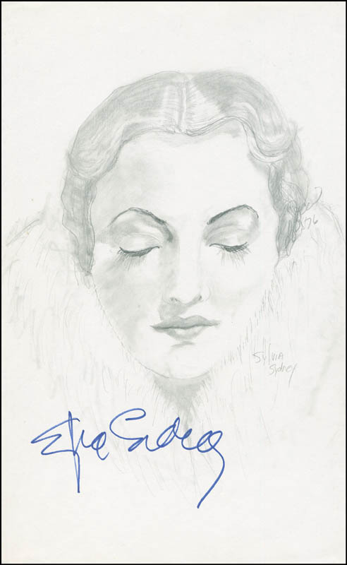 Image 1 for Sylvia Sidney - Original Art Signed 1976 co-signed by: Pb Socci - HFSID 291461