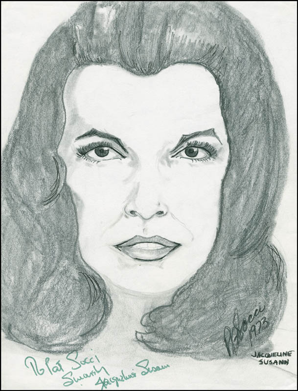 Image 1 for Jacqueline Susann - Inscribed Original Art Signed 1973 co-signed by: Pb Socci - HFSID 291463