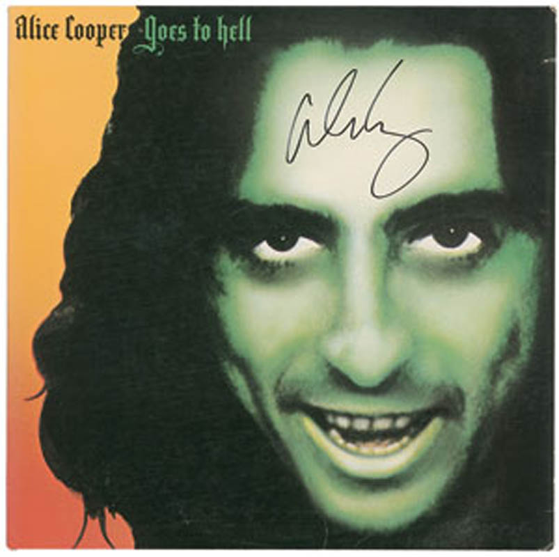 Image 1 for Alice Cooper - Record Album Cover Signed - HFSID 291476