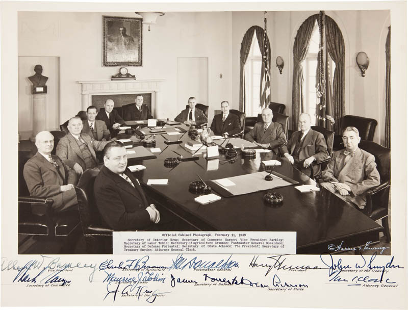 Image 1 for President Harry S Truman - Autographed Signed Photograph with co-signers - HFSID 291589