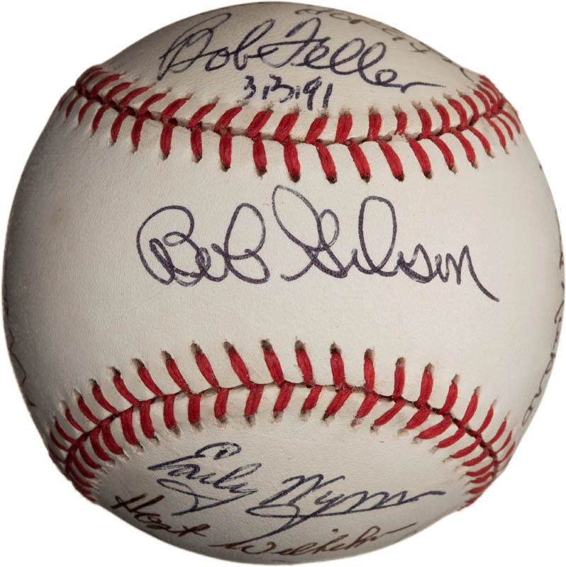 Image 1 for Bob Feller - Autographed Signed Baseball with co-signers - HFSID 291811