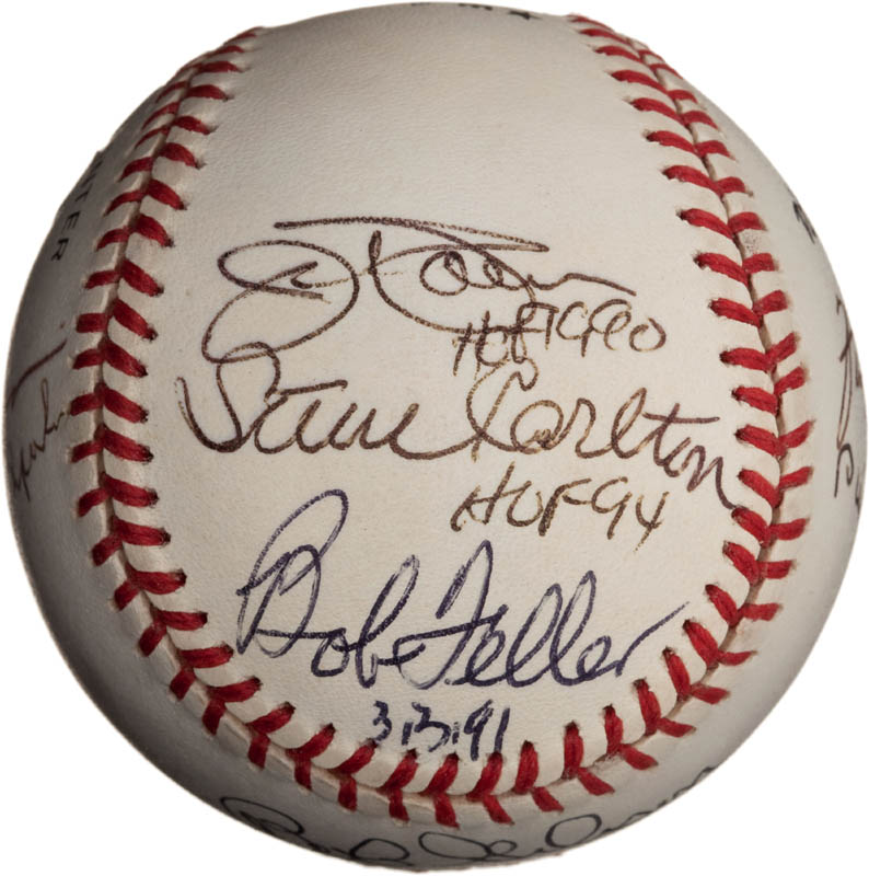 Image 3 for Bob Feller - Autographed Signed Baseball with co-signers - HFSID 291811