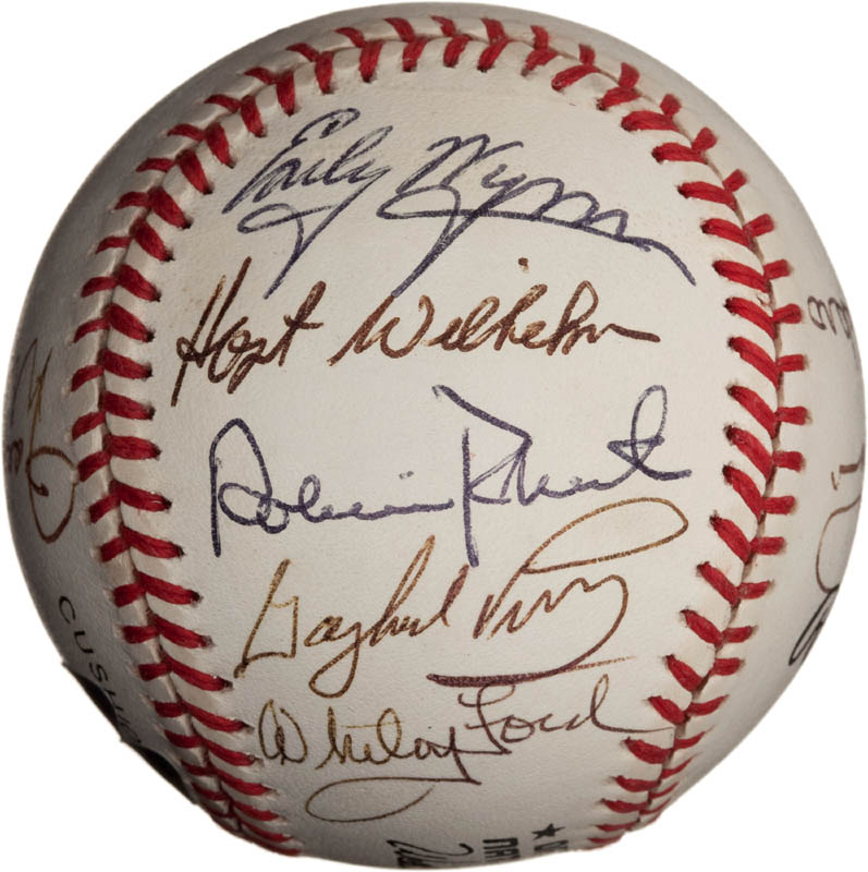 Image 4 for Bob Feller - Autographed Signed Baseball with co-signers - HFSID 291811
