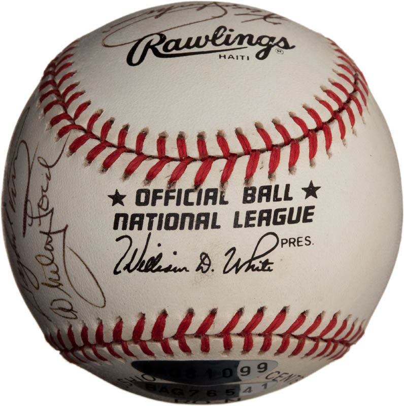 Image 7 for Bob Feller - Autographed Signed Baseball with co-signers - HFSID 291811