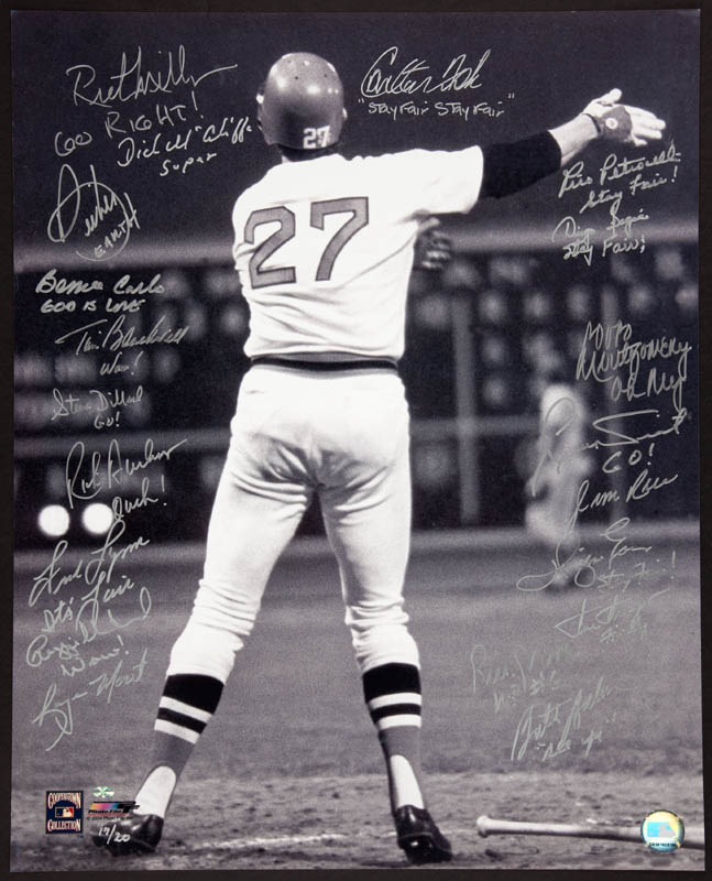 Image 1 for Carlton 'Pudge' Fisk - Autographed Signed Photograph with co-signers - HFSID 291894