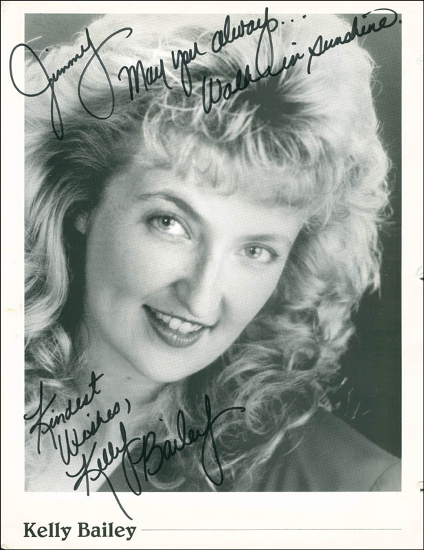 Image 1 for Kelley Bailey - Autographed Inscribed Photograph - HFSID 291965