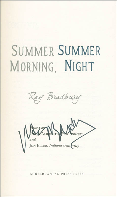 Image 1 for Ray Bradbury - Book Signed - HFSID 291990