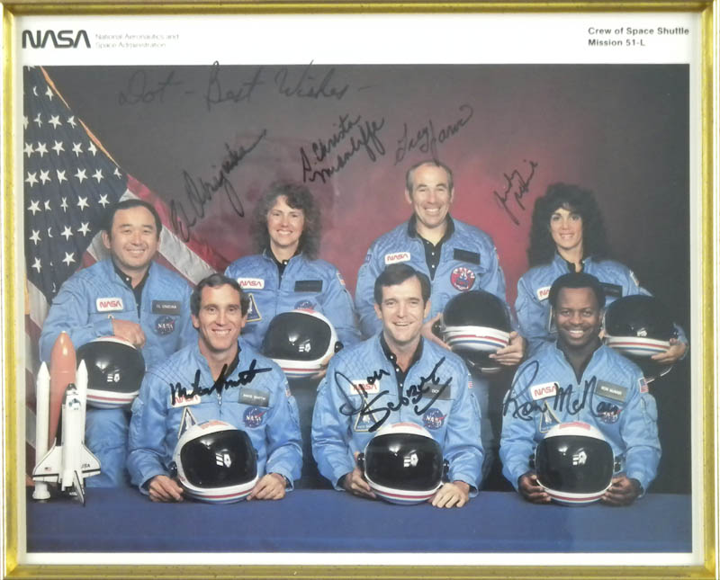 Image 3 for Space Shuttle Challenger - Sts - 51l Crew - Autographed Inscribed Photograph with co-signers - HFSID 292068