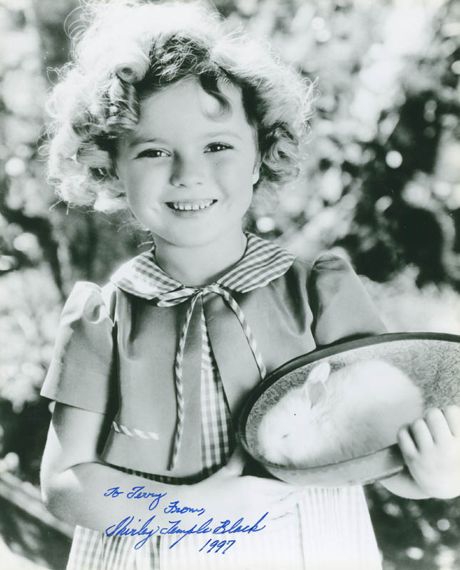 Image 1 for Shirley Temple - Autographed Inscribed Photograph 1997 - HFSID 292070