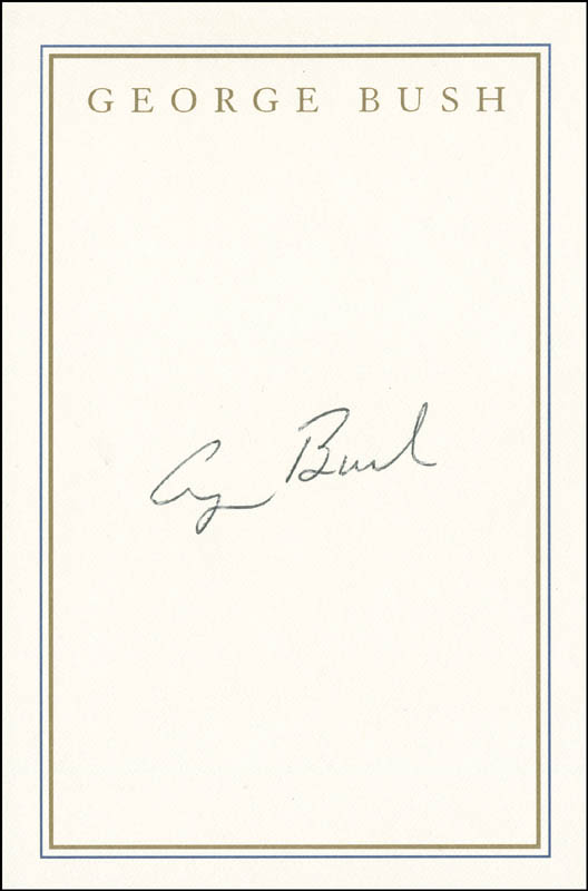 president george h w bush book plate signed