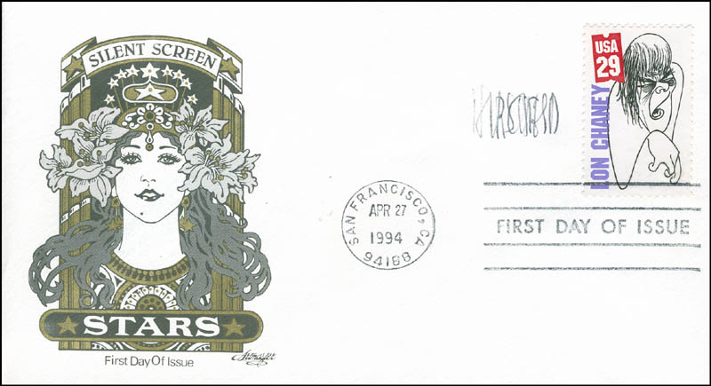 Image 1 for Al Hirschfeld - First Day Cover Signed - HFSID 292171
