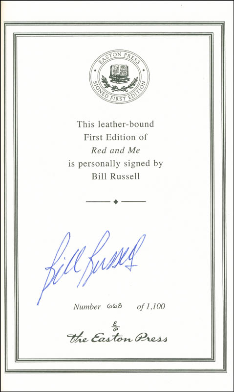 Image 1 for Bill Russell - Book Signed - HFSID 292231