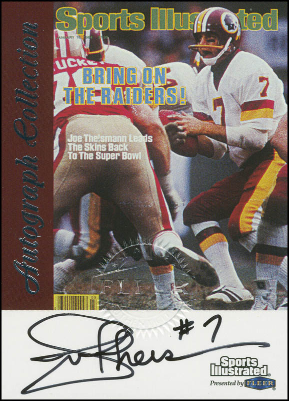 Image 1 for Joe Theismann - Trading/Sports Card Signed - HFSID 292371