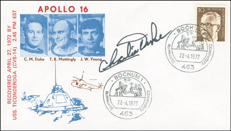 Image 1 for Brigadier General Charles M. Duke Jr. - Commemorative Cover Signed - HFSID 292480