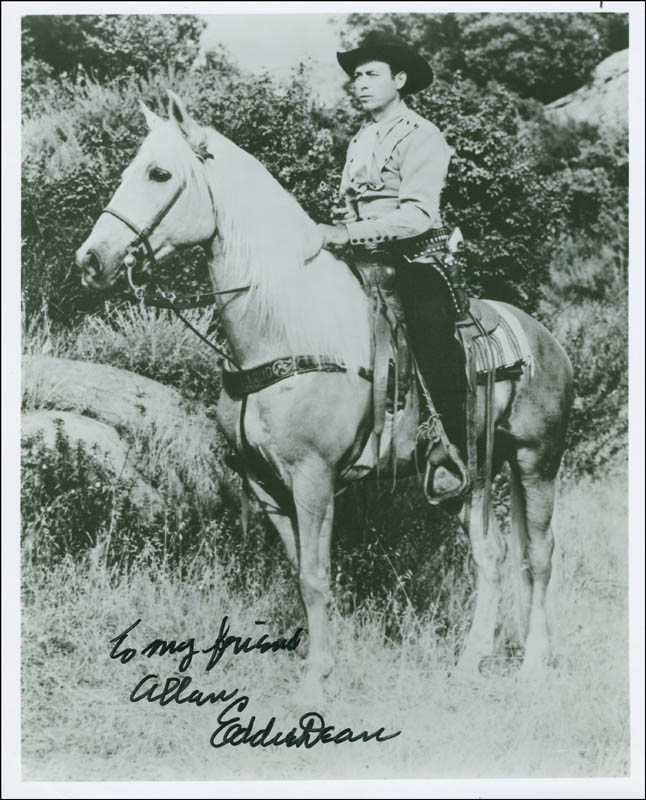 Image 1 for Eddie Dean - Autographed Inscribed Photograph - HFSID 292504