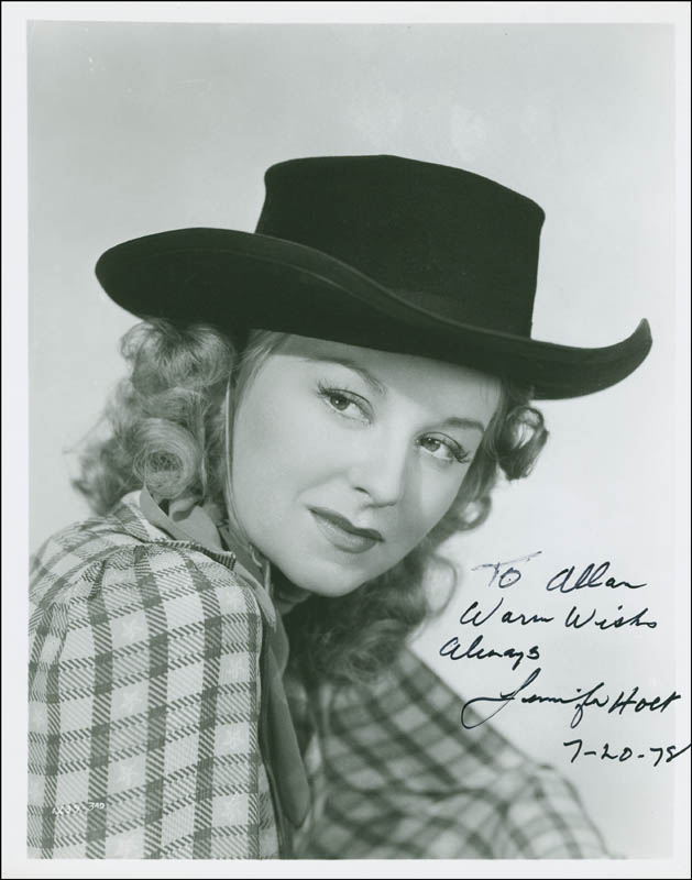 Image 1 for Jennifer Holt - Autographed Inscribed Photograph 07/20/1978 - HFSID 292627