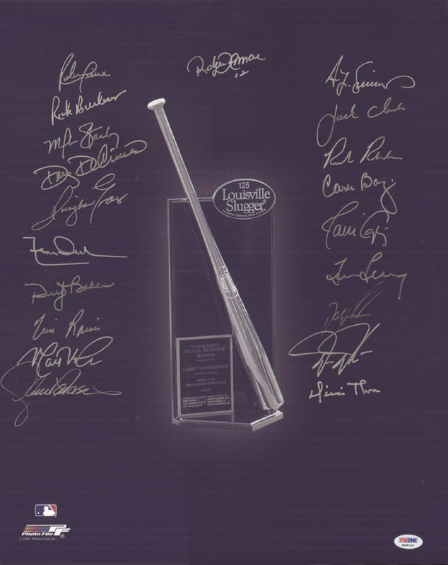 Image 1 for Silver Slugger Award Winners - Autographed Signed Photograph with co-signers - HFSID 292674