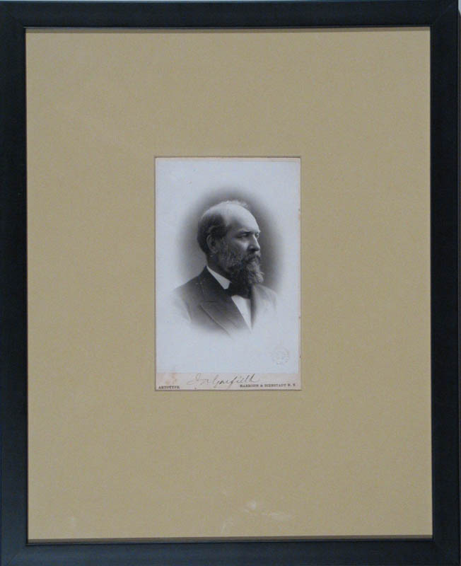 Image 3 for President James A. Garfield - Photograph Mount Signed - HFSID 292717