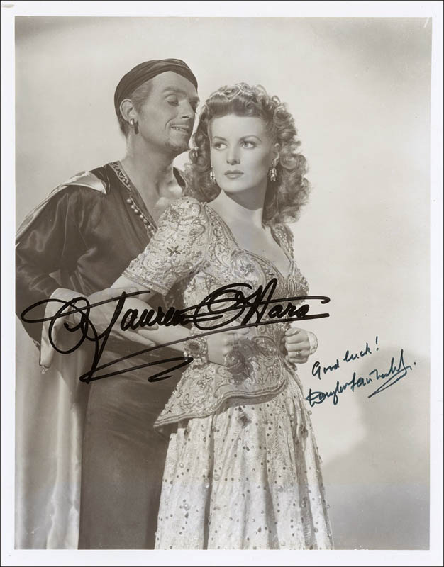 Image 1 for Sinbad The Sailor Movie Cast - Autographed Signed Photograph co-signed by: Douglas Fairbanks Jr., Maureen O'Hara - HFSID 292880