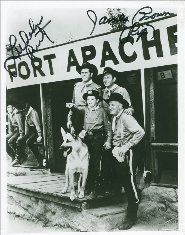 Image 1 for The Adventures Of Rin Tin Tin TV Cast - Autographed Signed Photograph co-signed by: James L. 'Rip' Brown, Lee Aaker - HFSID 292895