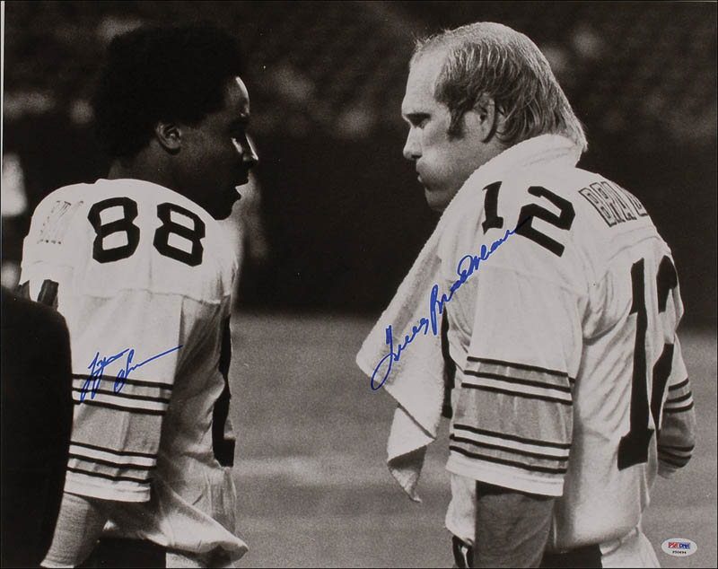 Image 1 for Terry Bradshaw - Autographed Signed Photograph co-signed by: Lynn Swann - HFSID 292914