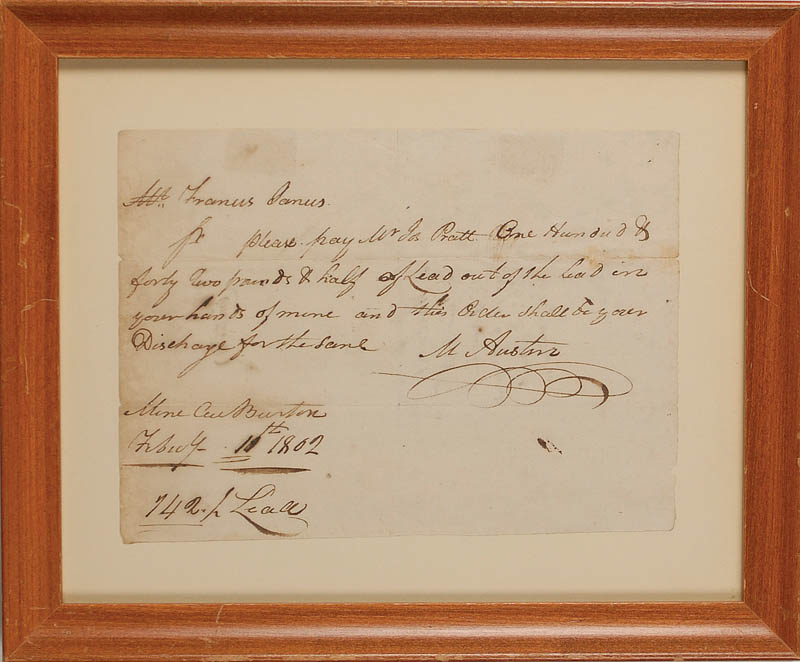 Image 1 for Moses Austin - Promissory Note Signed 02/11/1802 - HFSID 292977