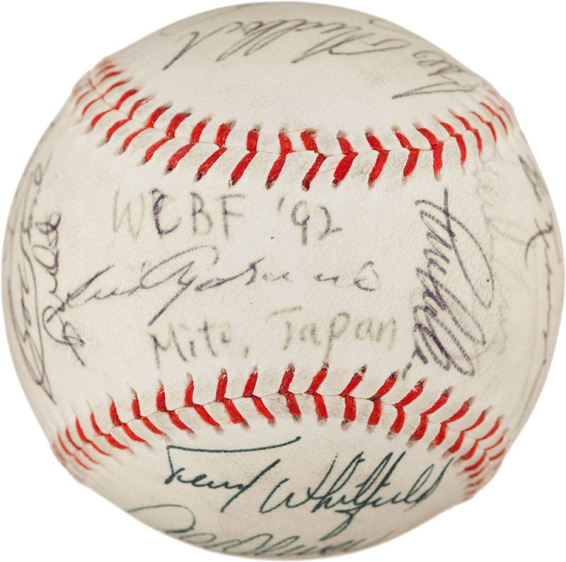 Image 1 for Sadaharu Oh - Autographed Signed Baseball 1992 with co-signers - HFSID 293065