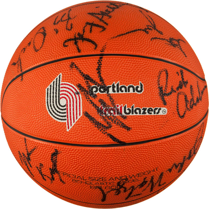 Image 1 for The Portland Trail Blazers - Basketball Signed with co-signers - HFSID 293087