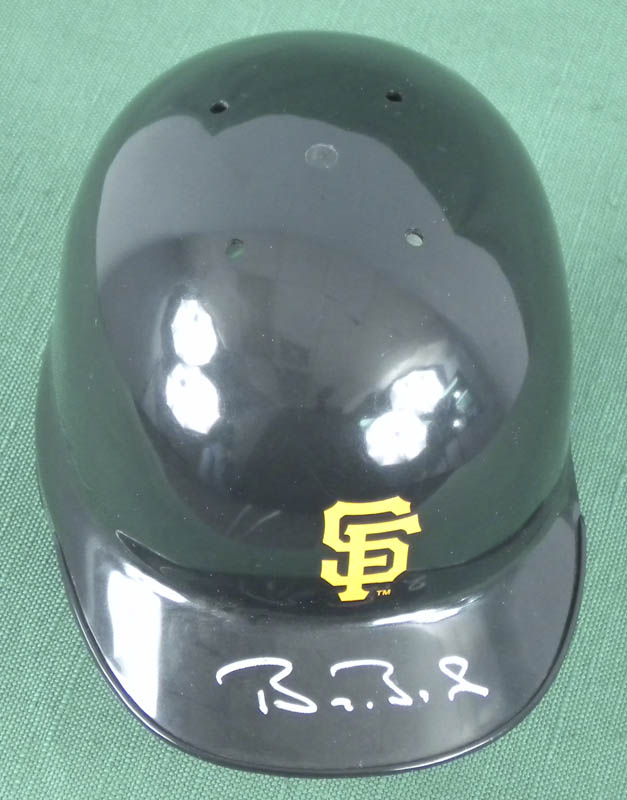 Image 1 for Barry L. Bonds - Miniature Helmet Signed - HFSID 293092