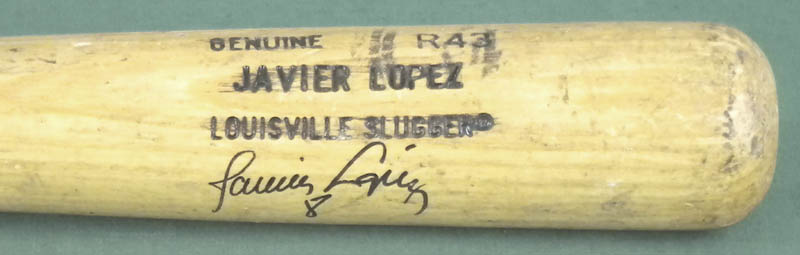 Image 3 for Javier 'Javy' Lopez - Baseball Bat (Game Used) Signed - HFSID 293103