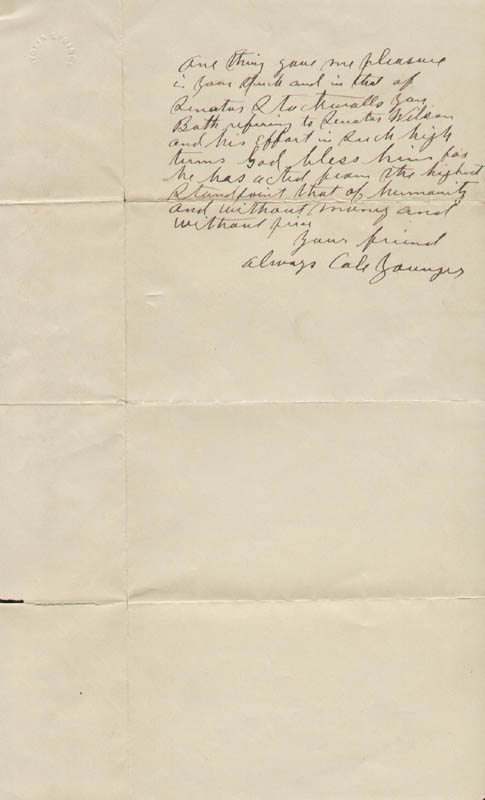 Image 1 for Cole Younger - Autograph Letter Signed 03/26/1899 - HFSID 293173