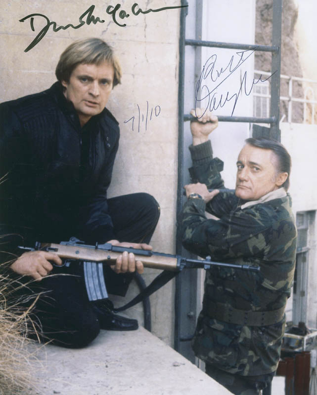 Image 1 for The Man From U.N.C.L.E. TV Cast - Autographed Signed Photograph 07/01/2010 co-signed by: David Mccallum, Robert Vaughn - HFSID 293325
