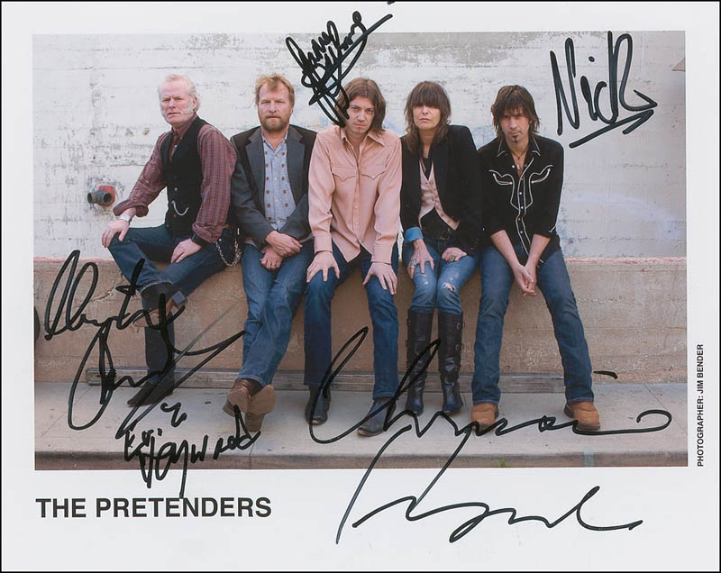 Image 1 for The Pretenders - Autographed Signed Photograph with co-signers - HFSID 293334