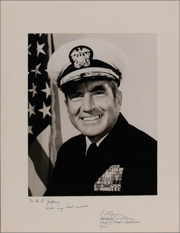 Image 1 for Admiral Elmo R. Zumwalt Jr. - Inscribed Photograph Mount Signed 03/03/1972 - HFSID 293364