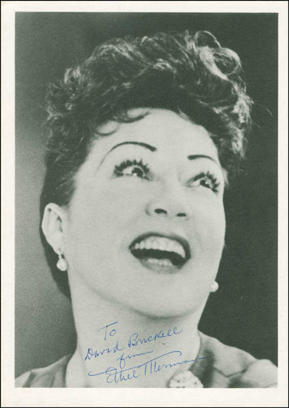 Image 1 for Ethel Merman - Autographed Inscribed Photograph - HFSID 293406