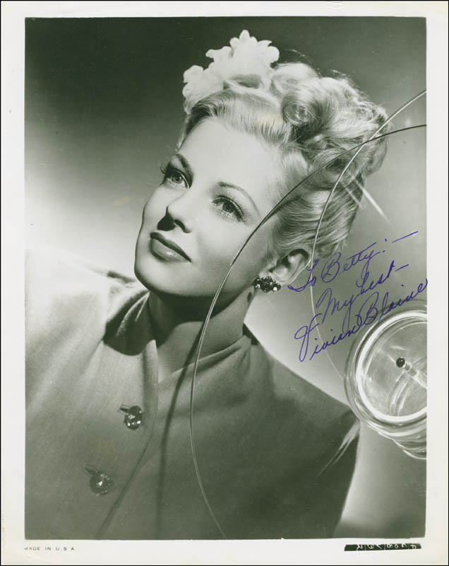 Image 1 for Vivian Blaine - Autographed Inscribed Photograph - HFSID 293410